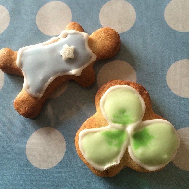 Irish Baby Boy Shower Cookies
