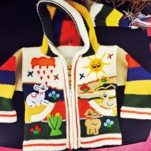 Colourful baby jumper
