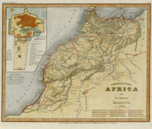 Map of Morocco, North Africa