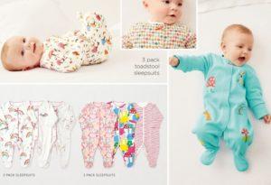 Baby sleepsuits Next