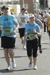 Brighton Marathon half way mark