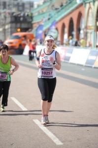Brighton Marathon finish line