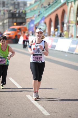 Brighton Marathon finish line