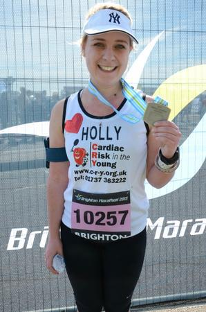 Brighton Marathon finisher