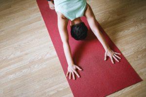 yoga mat stretch