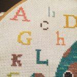 Cross stitch baby elephant alphabet