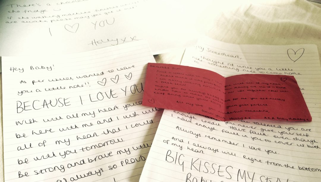 Love letters Valentine's Day