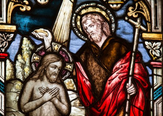 Stained glass window church Christ