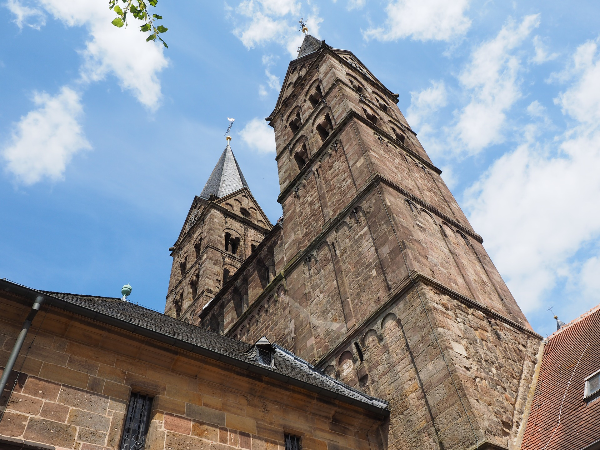 Church blue sky clouds