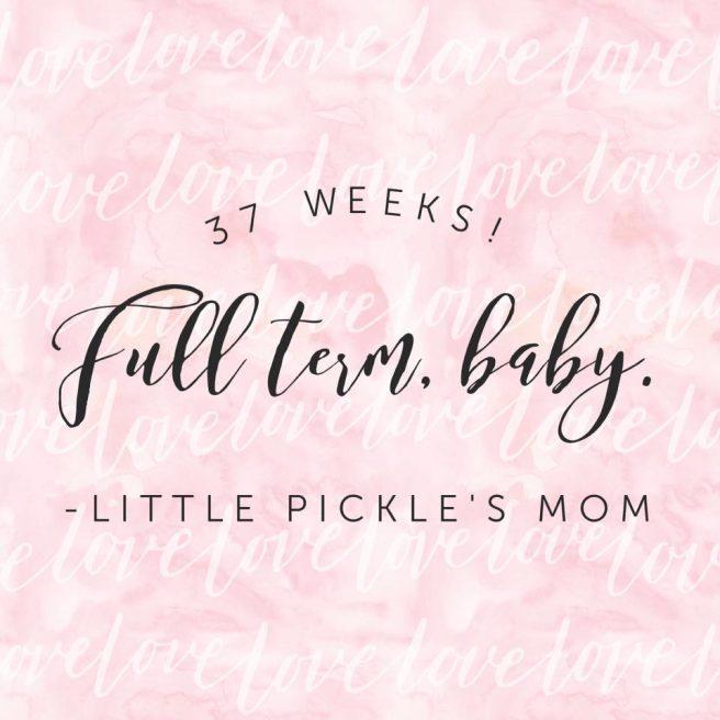 Little Pickle's Mom full term baby