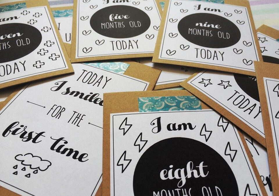 LPM Made This: WIN a set of Handmade Baby Milestone Cards