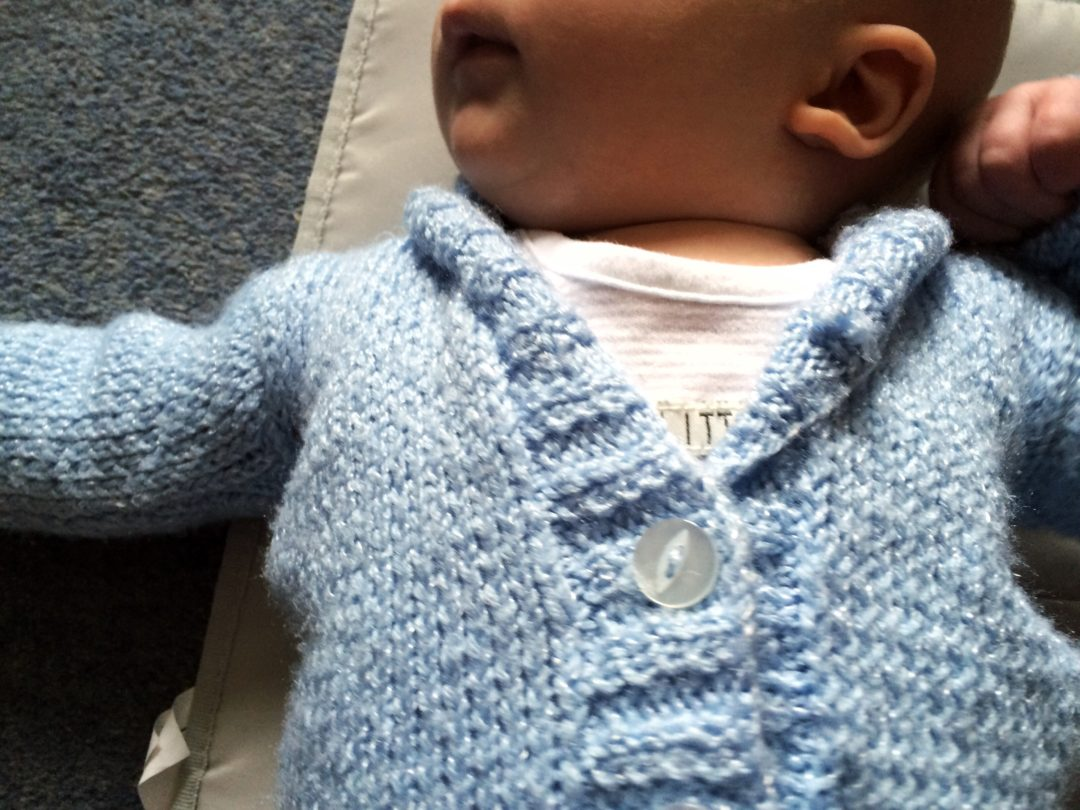 Baby Knitted Cardigan Baby Blue