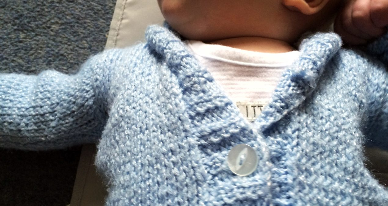 LPM Made This: Knitted Baby Cardigan