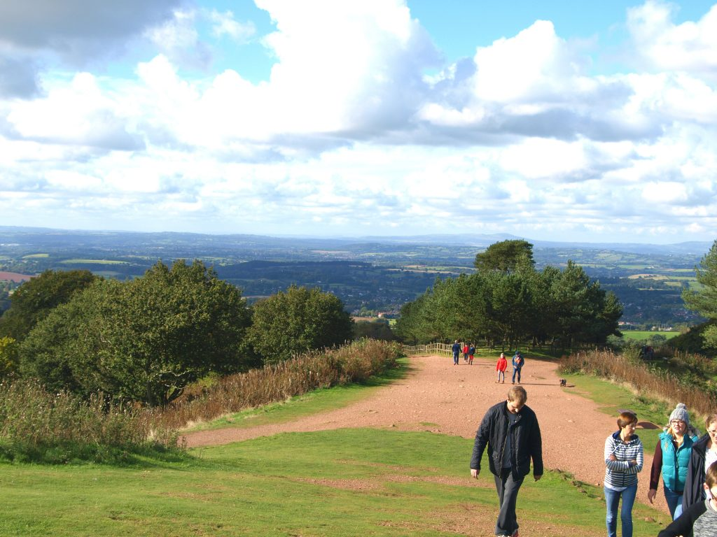 View from the top of the Clent Hills