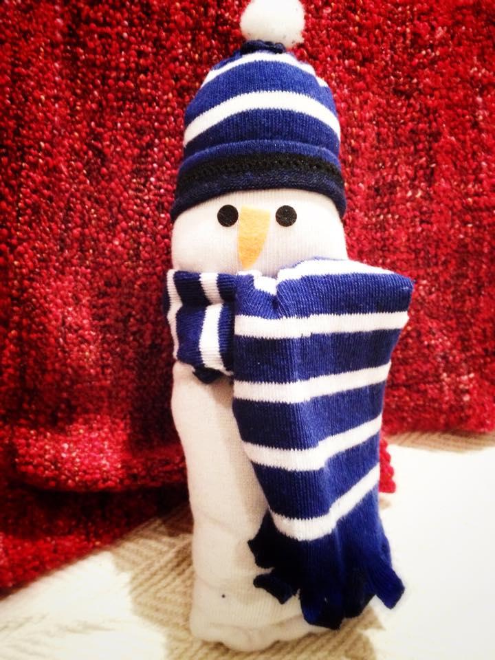 Handmade snowman Christmas