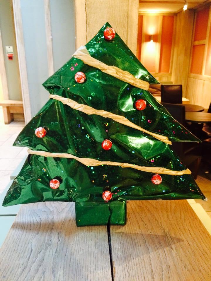 Christmas tree wrapping