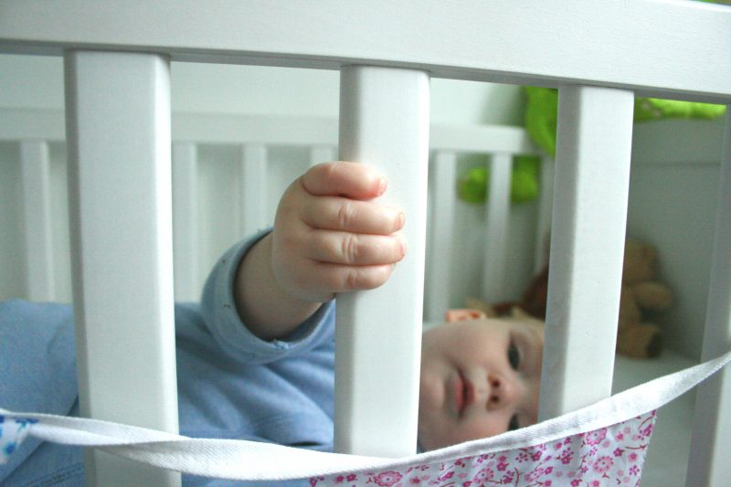 Baby doesn't want to sleep in his own cot