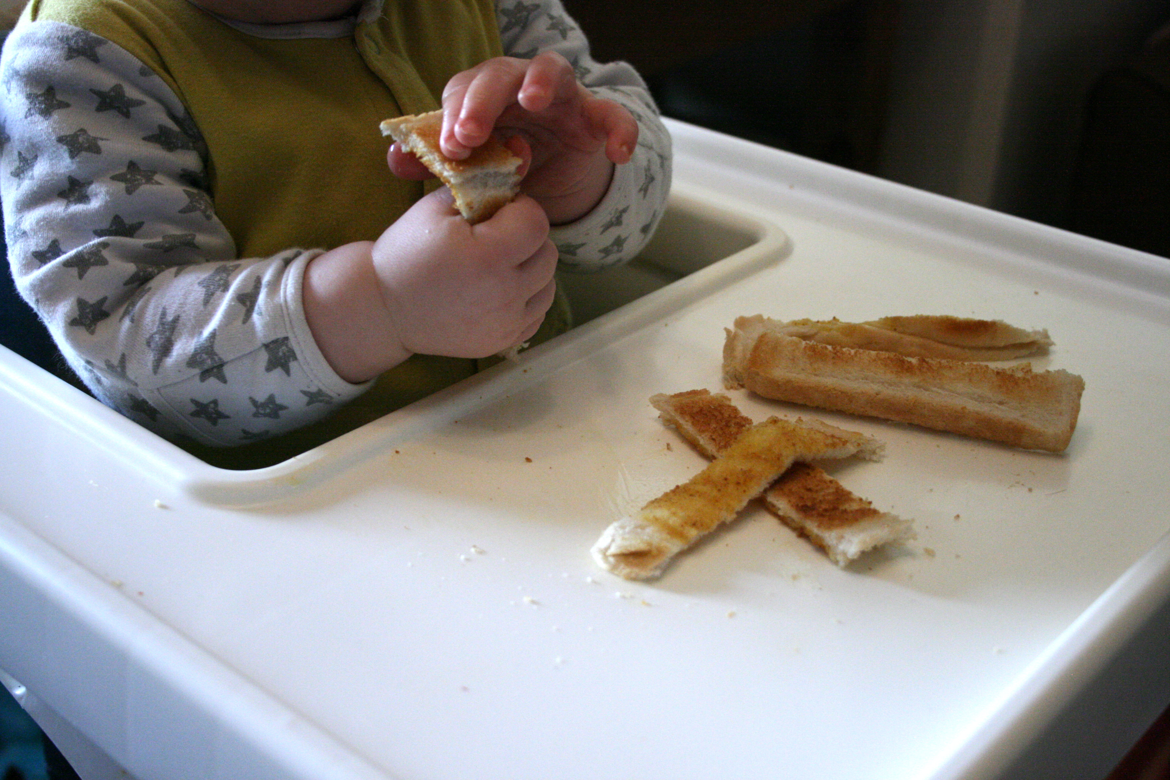 baby eating toast baby breakfast ideas