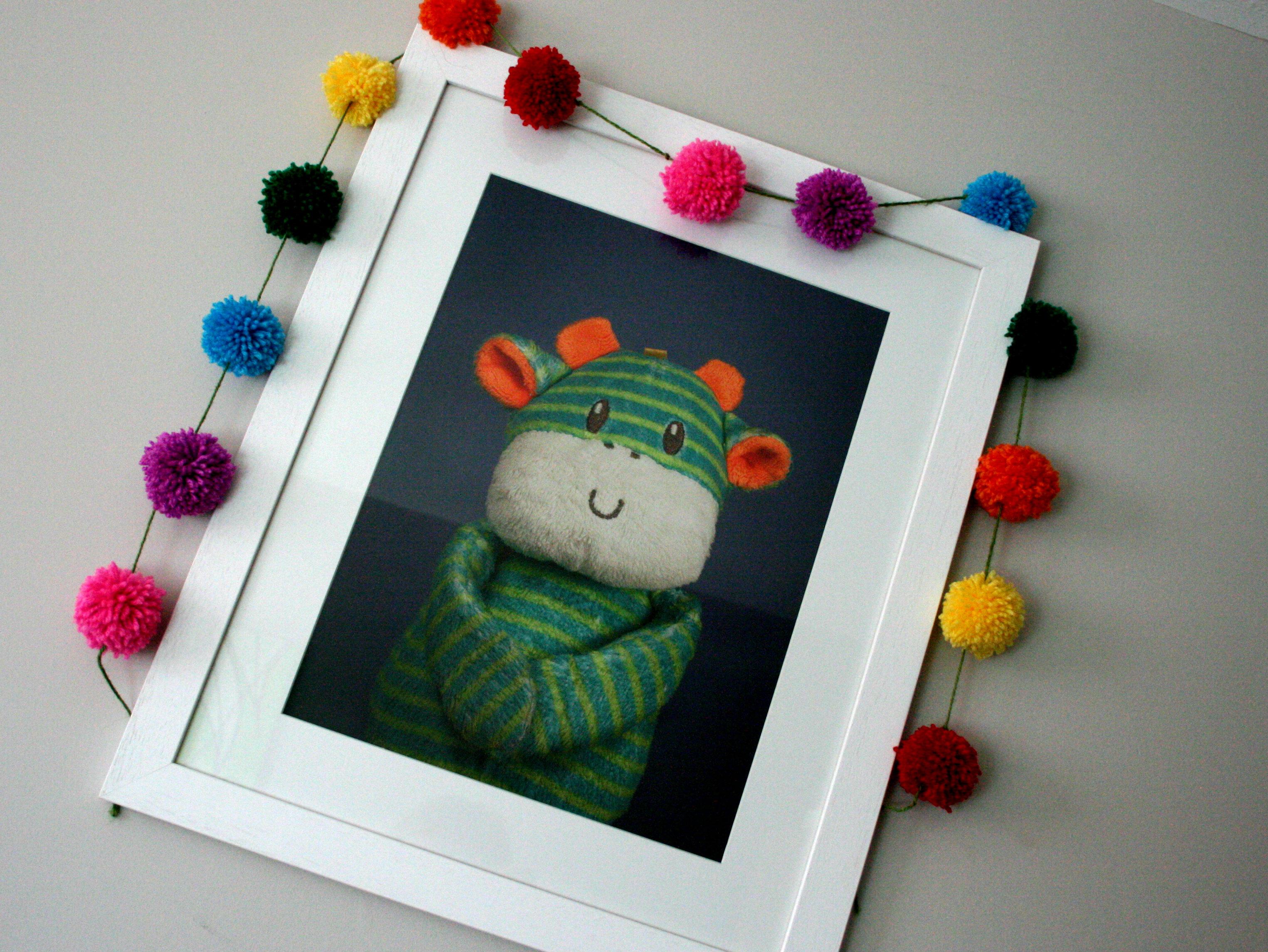 My Oldest Friend framed teddy portrait