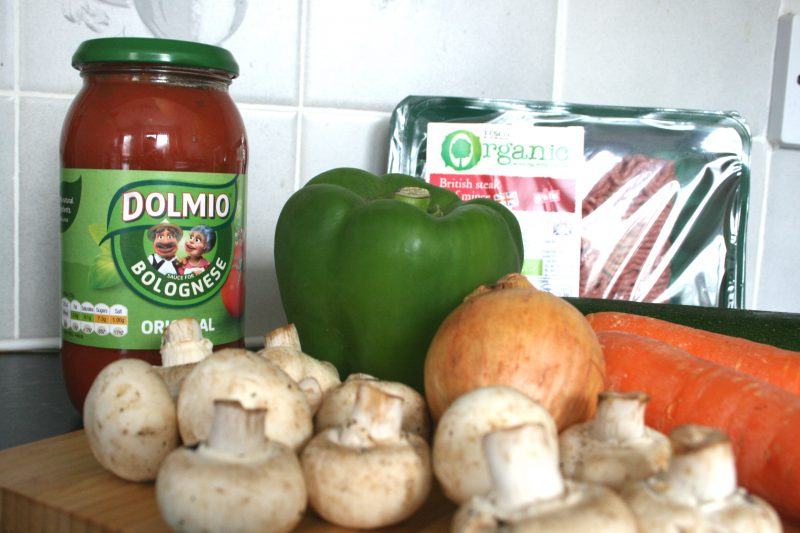 Dolmio Ingredients Beef Onions Pepper Carrot