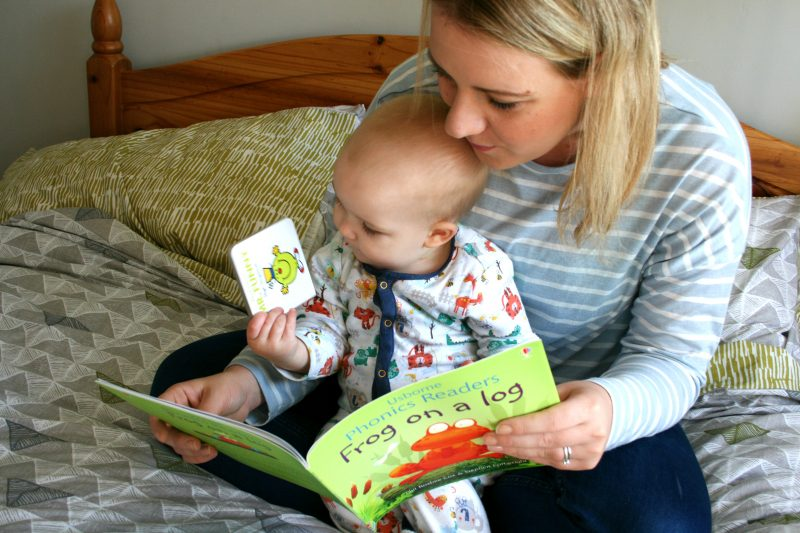 Reading Bedtime Story with Baby