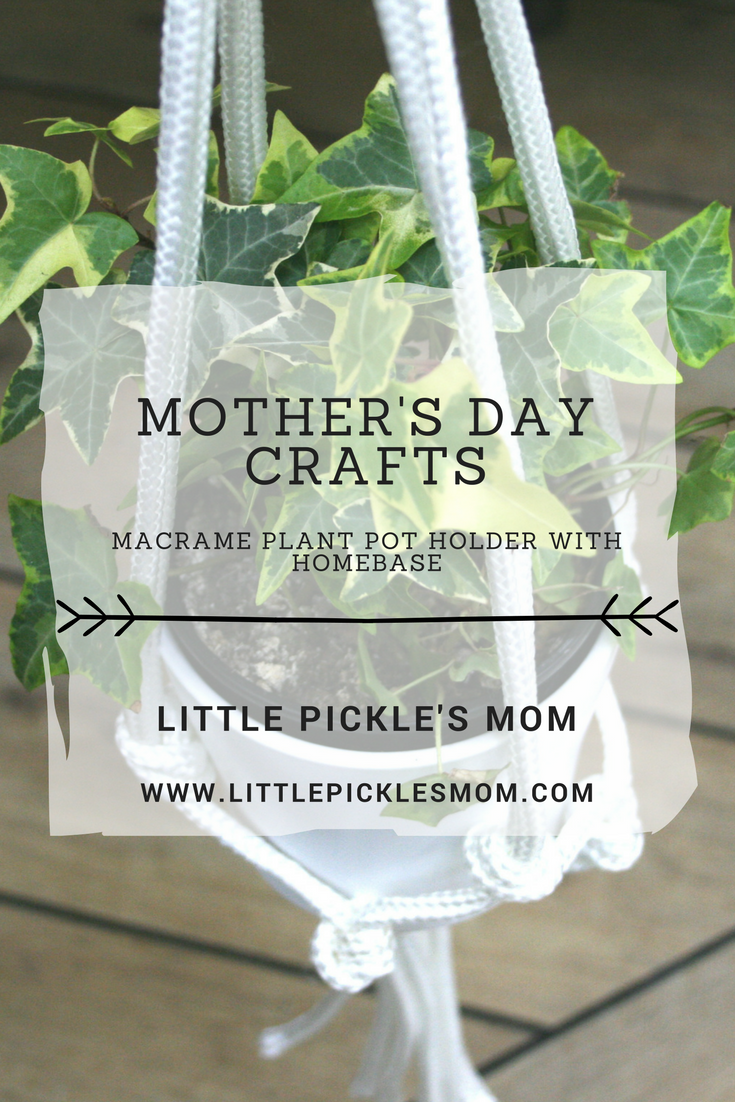 Easy and Child Friendly Mother's Day Crafts - Macrame plant pot holder and personalised coasters