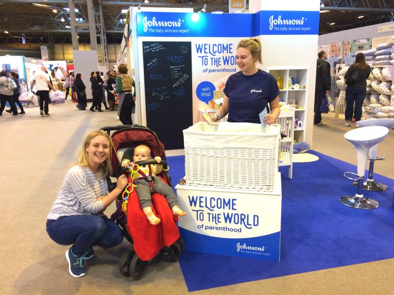 Johnsons Baby stand at the Baby Show NEC Birmingham