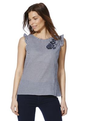 Gingham Frill Trim Top from Tesco