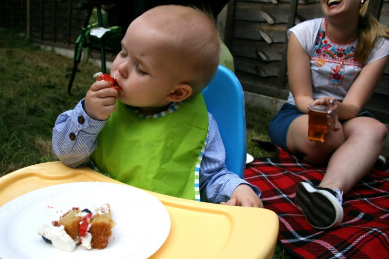 Pickle Enjoying His Birthday Cake