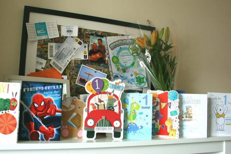 Birthday Cards on Shelf