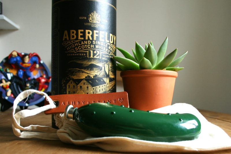Pickle Hipflask with Aberfeldy Whisky