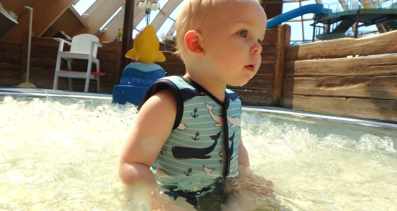 Swimming with the Splash About BabyWrap