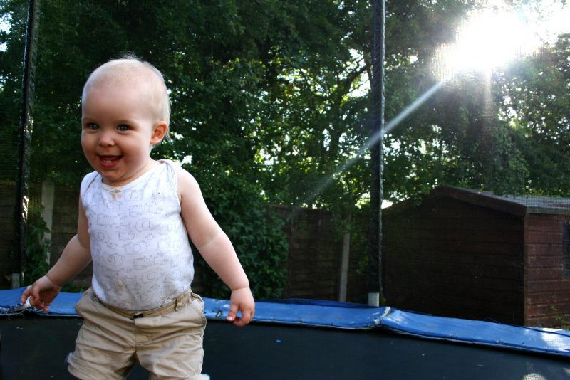 Toddler loves the Trampoline
