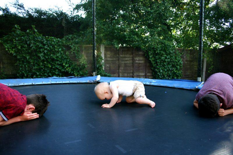 Trampoline Fun with Three Children