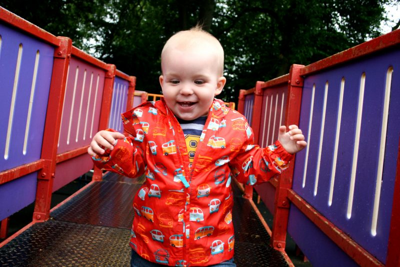 Happy Toddler at Cannon Hill Park