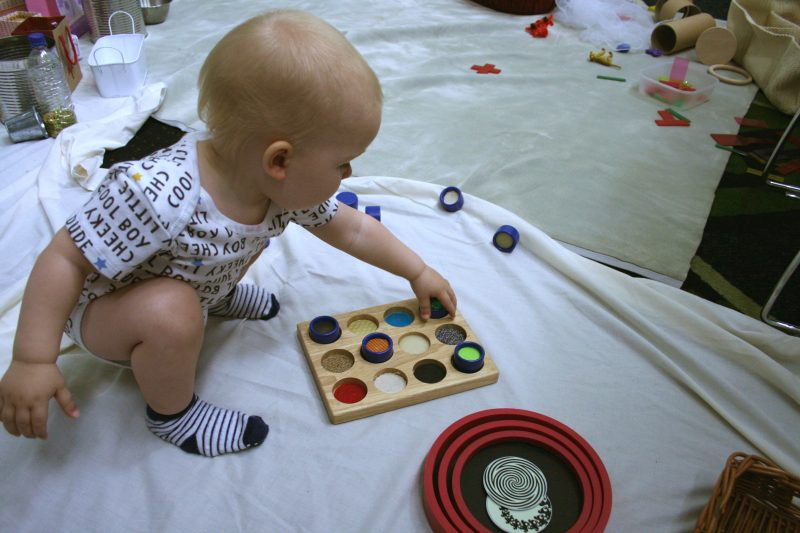 Toddler doing Heuristic Play