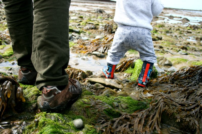 Camping with a Toddler Wellies on the Beach