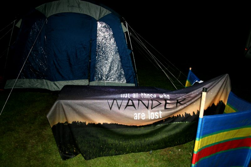 Our Camping Blanket at Night