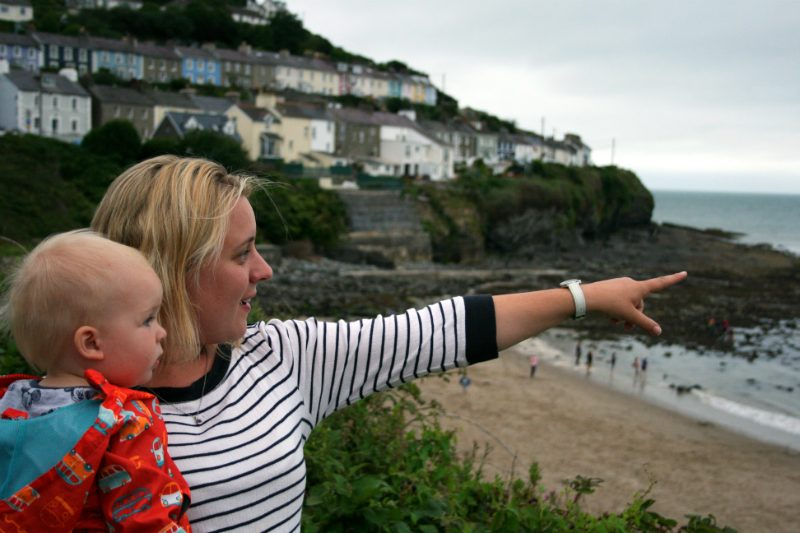 Exploring at New Quay Wales