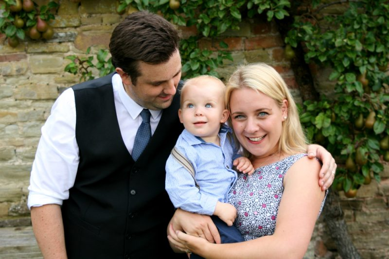Wedding with a Toddler Family Photo