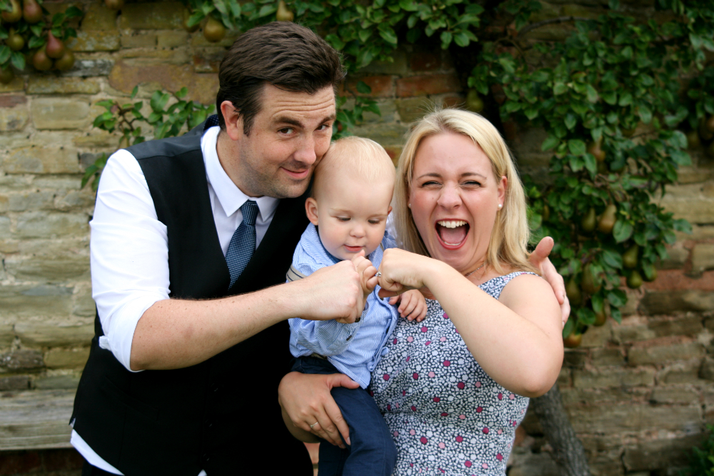 Baby Fistpump at Wedding with a Toddler
