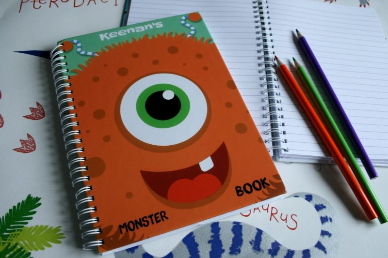 Personalised Monster Notebook from GiftPup