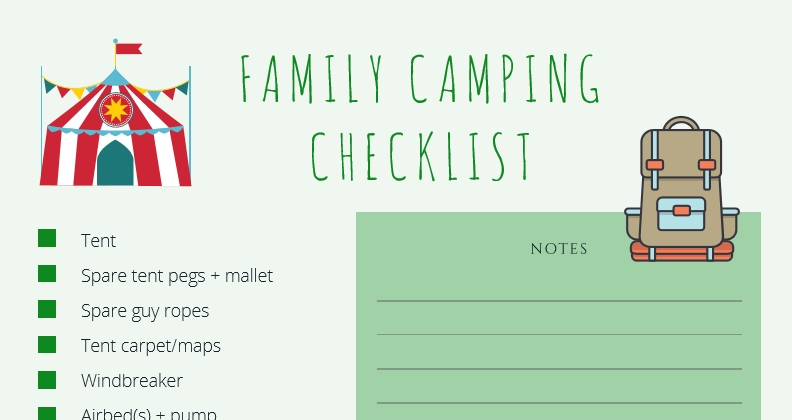 Download the Camping Checklist
