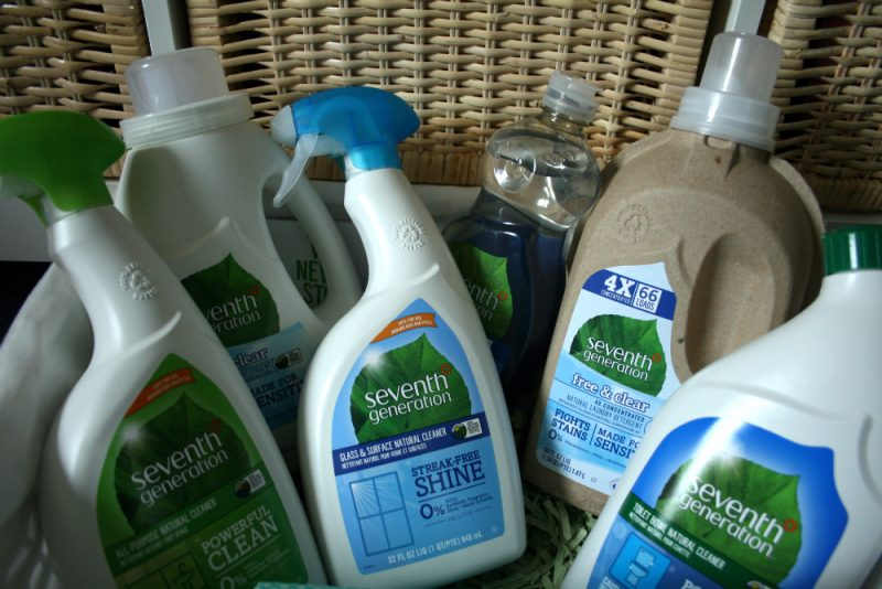 Cleaning with Seventh Generation new blog category