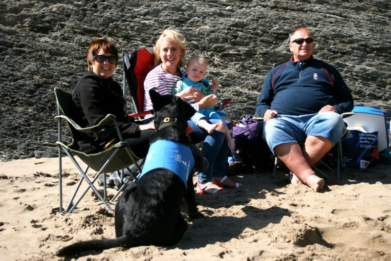 Family Trip to Mwnt Beach