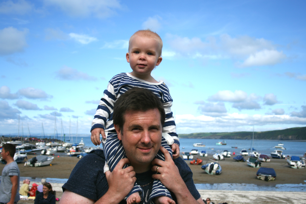 Our Family Camps – New Quay in Scrapbook Style