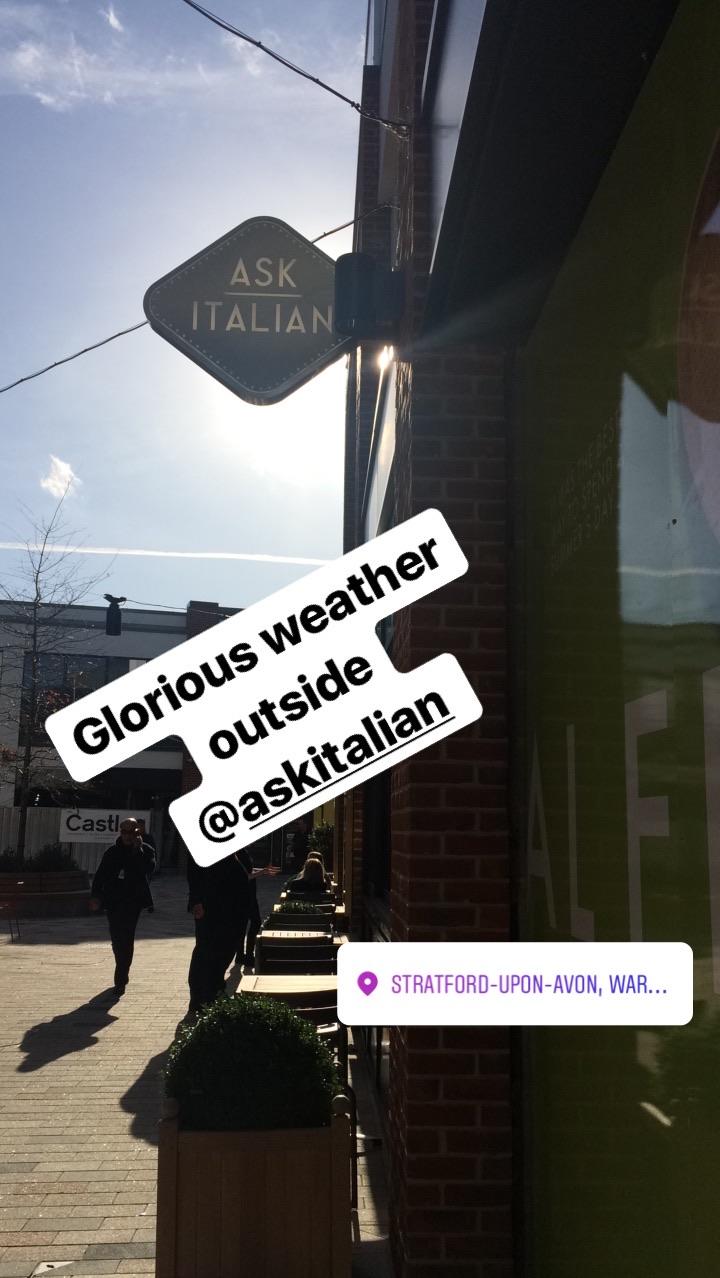 Outside Ask Italian Instastories