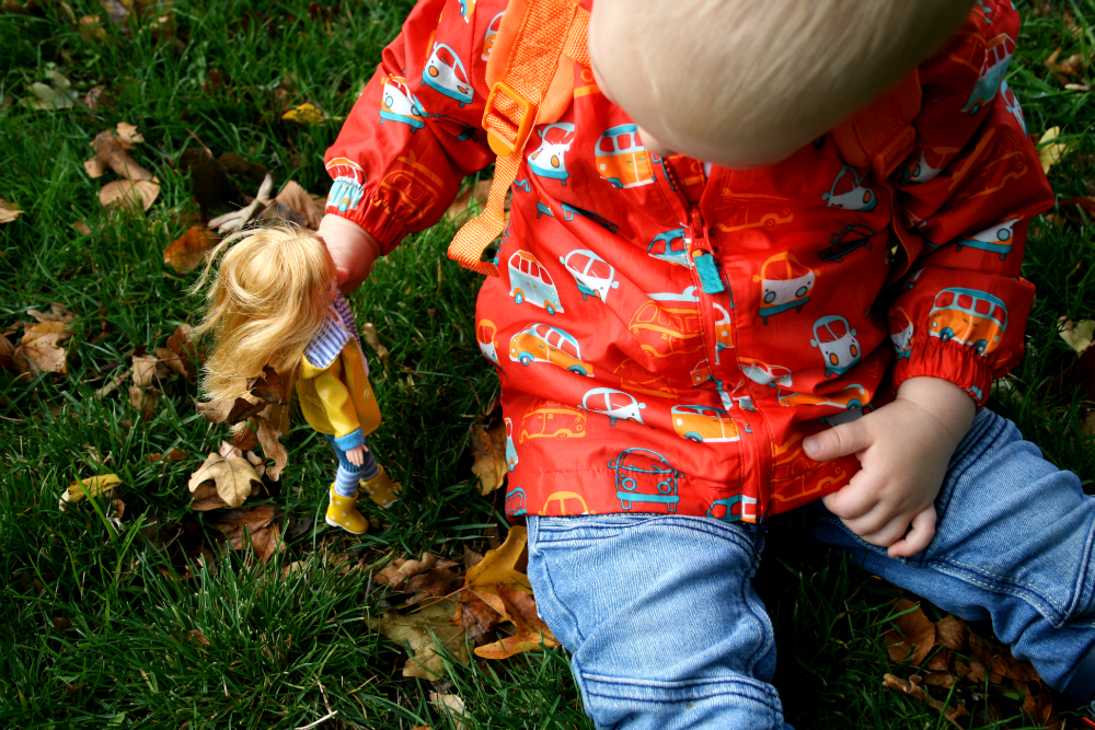 Playing with Lottie Doll in the Grass