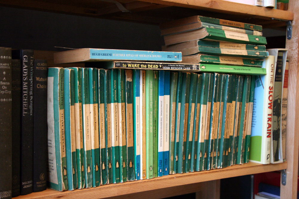 Book fair at Midlands Arts Centre - a selection of old Penguin books