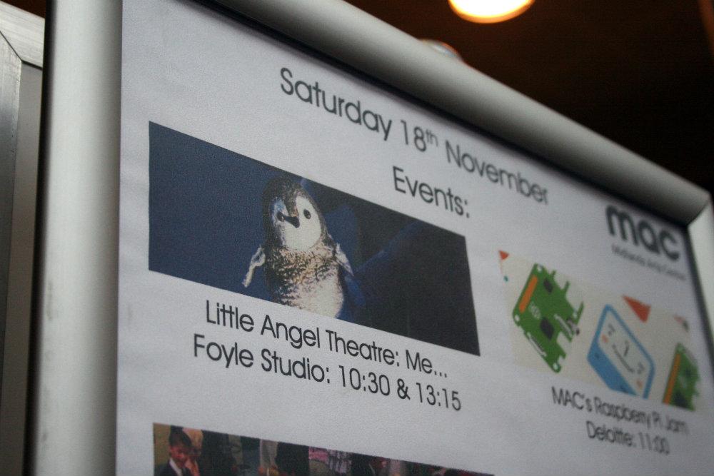 Me... Poster at Mac Birmingham